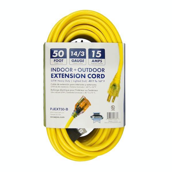 Snow Joe PJEXT50-B Low Temp Extension Cord   50-Foot   14 Gauge   Lighted  End